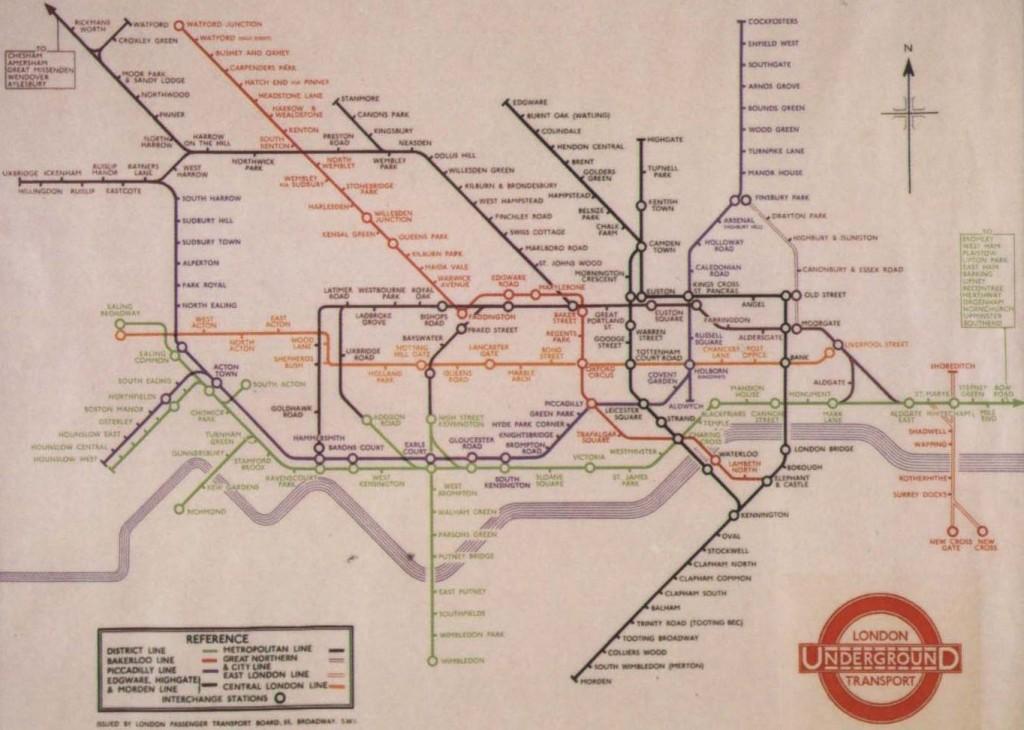 Mapa London Tube [1933]
